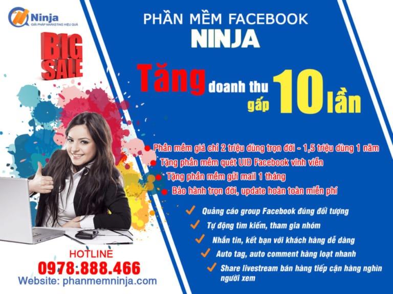 phanmemninja 1 Tổng hợp top 5 phần mềm hỗ trợ bán hàng tốt nhất trên Facebook