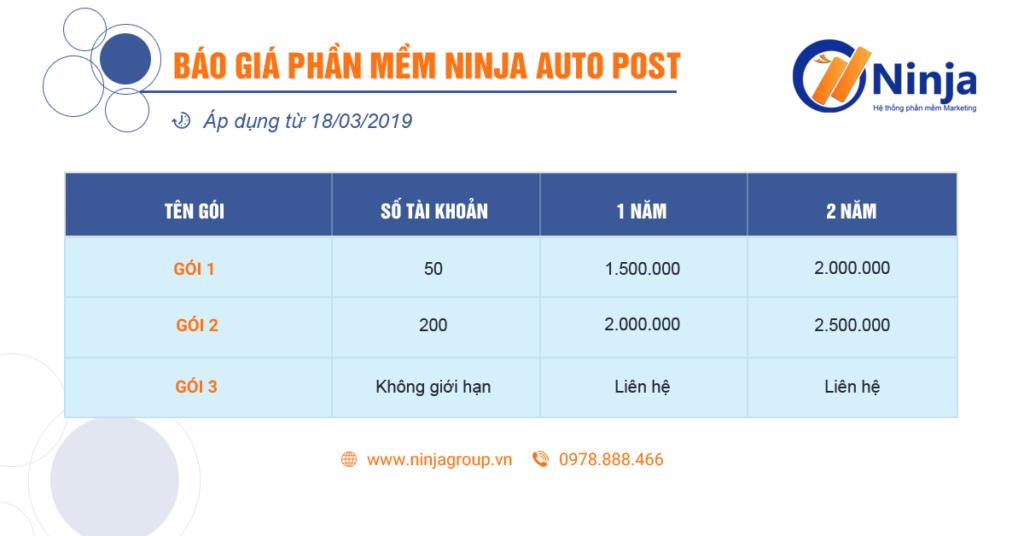 bao gia ninja auto post 1024x536 Hướng dẫn sử dụng phần mềm Ninja Auto Post
