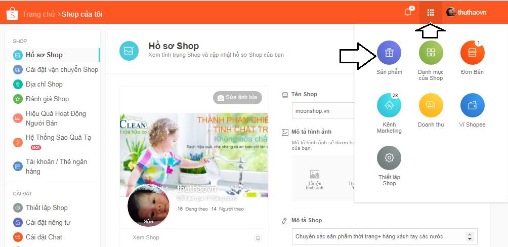 huong dan ban hang shopee7 Ninja hướng dẫn bán hàng trên Shopee.vn