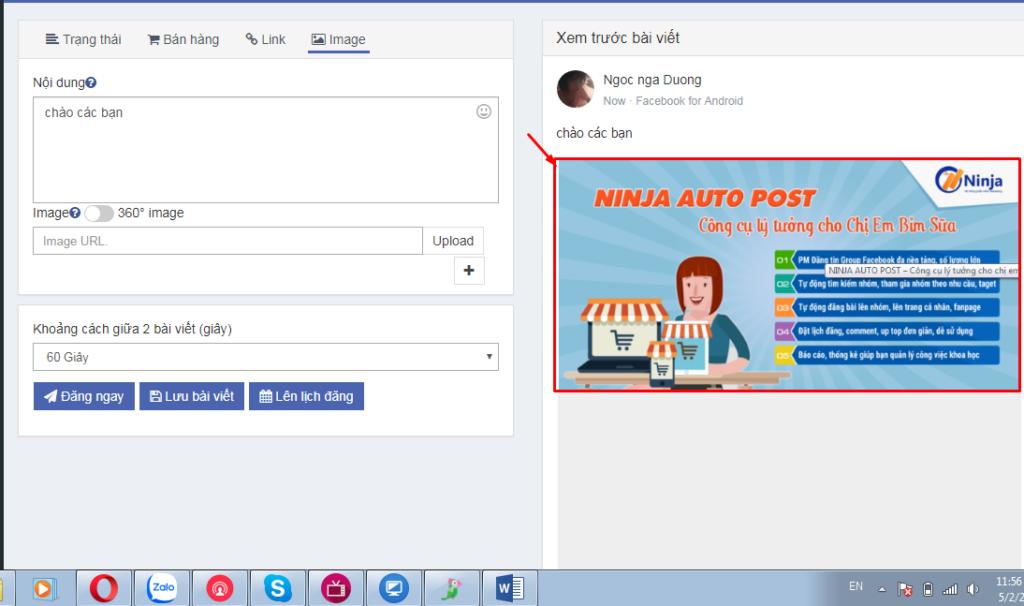 huong dan su dung phan mem autopost11 1024x606 Hướng dẫn sử dụng phần mềm Ninja Auto Post