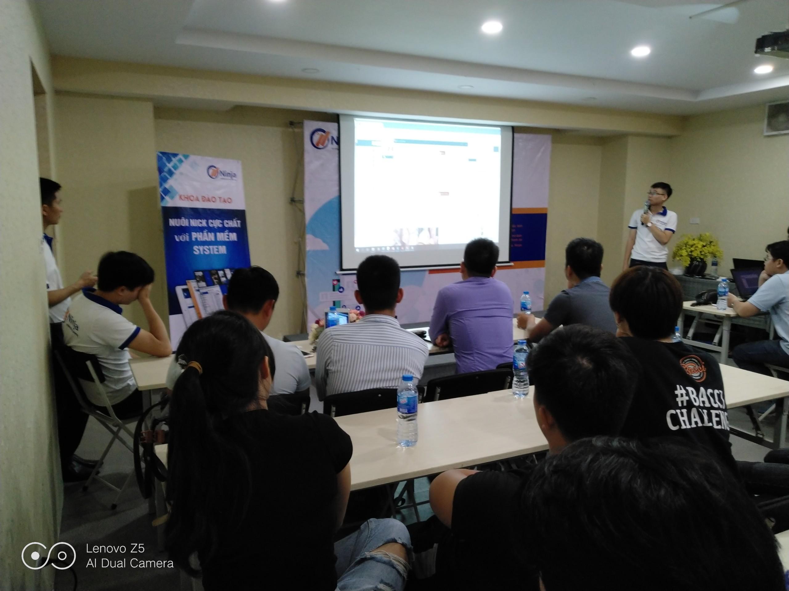 dao tao ninja system14 Tổng kết offline đào tạo Ninja System   phần mềm nuôi nick điện thoại số 1 Việt Nam