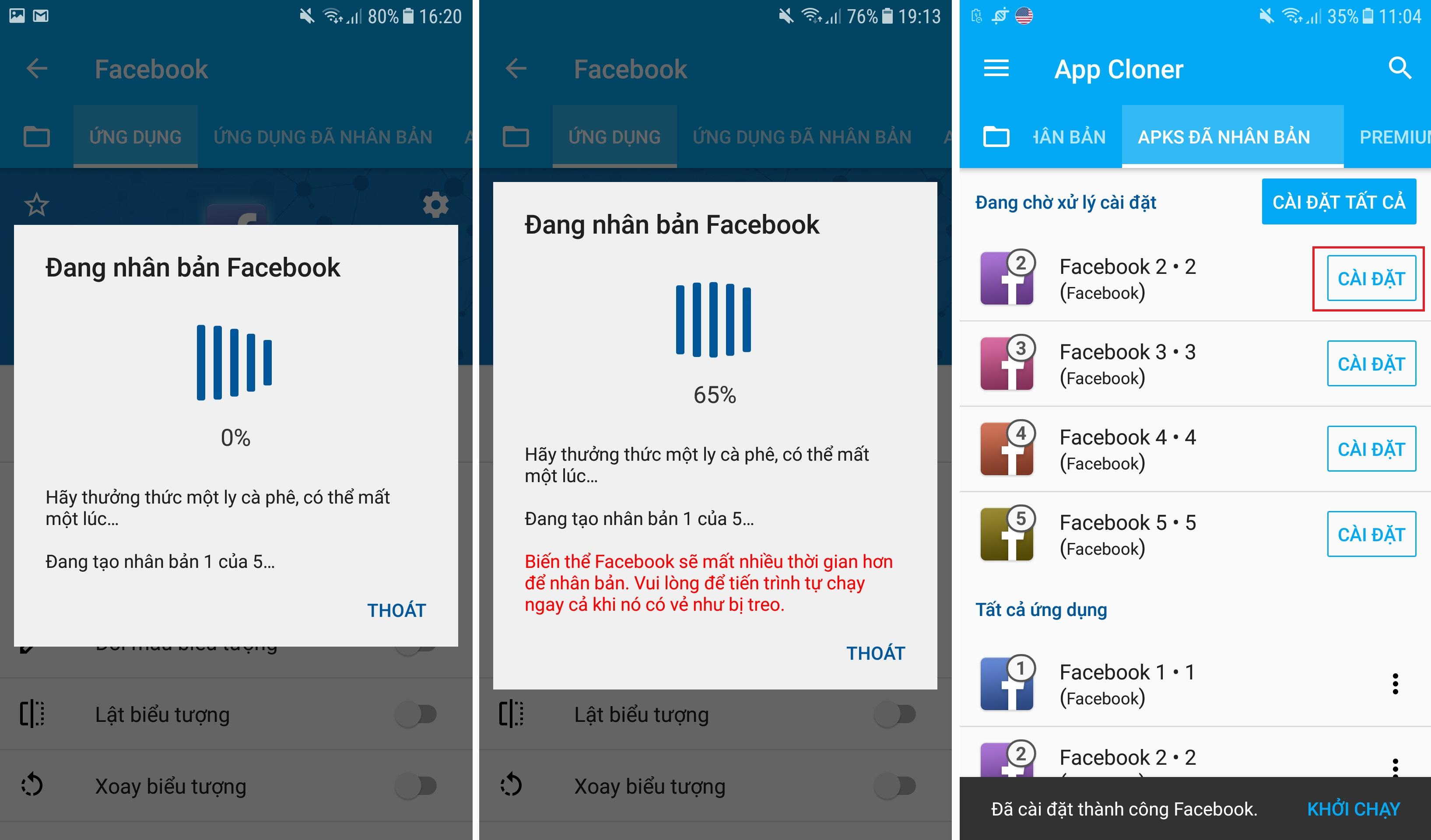 Cách nhân bản app cloner Facebook để nuôi nick điện thoại bằng Ninja System