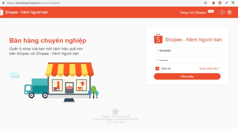 nhap tai khoan ninja shopee Cách nhập shop của bạn vào phần mềm bán hàng Shopee Ninja Shopee