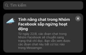 tính năng chat nhóm facebook
