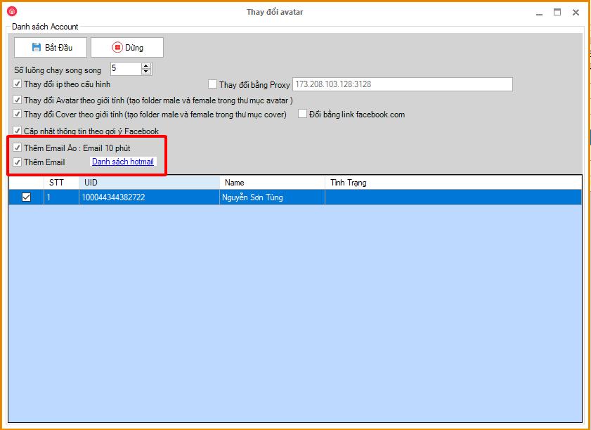 6ca87ca85366a838f177 Phần mềm nuôi nick Facebook Ninja cập nhật tính năng thêm Hotmail