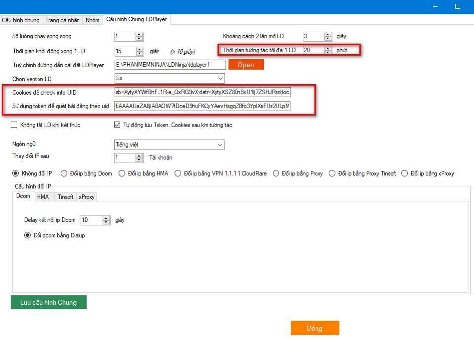 ninjasystem3.8.2 Update version mới 3.8 của phần mềm nuôi nick tự động